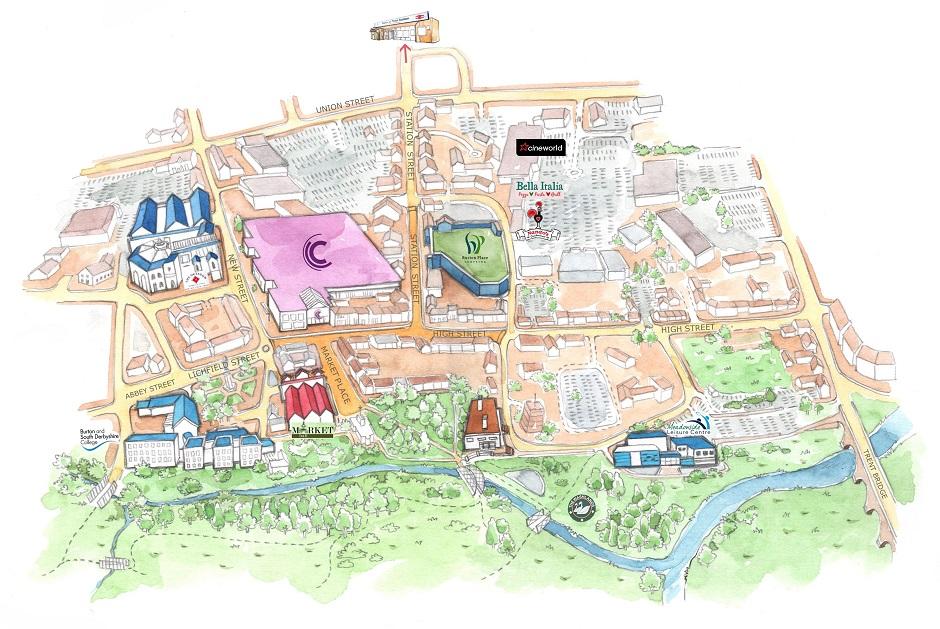 Burton Town Centre